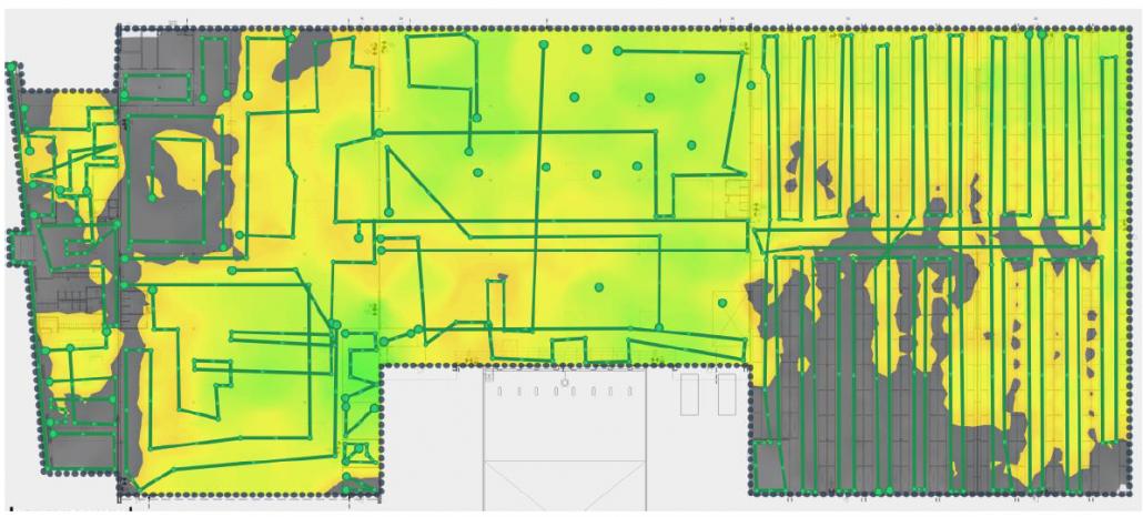 site survey heatmap 2,4GHz band