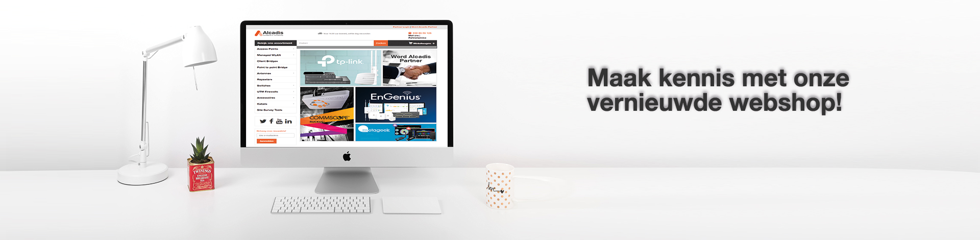 Vernieuwde webshop Alcadis